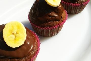 Muffins con plátano y chocolate
