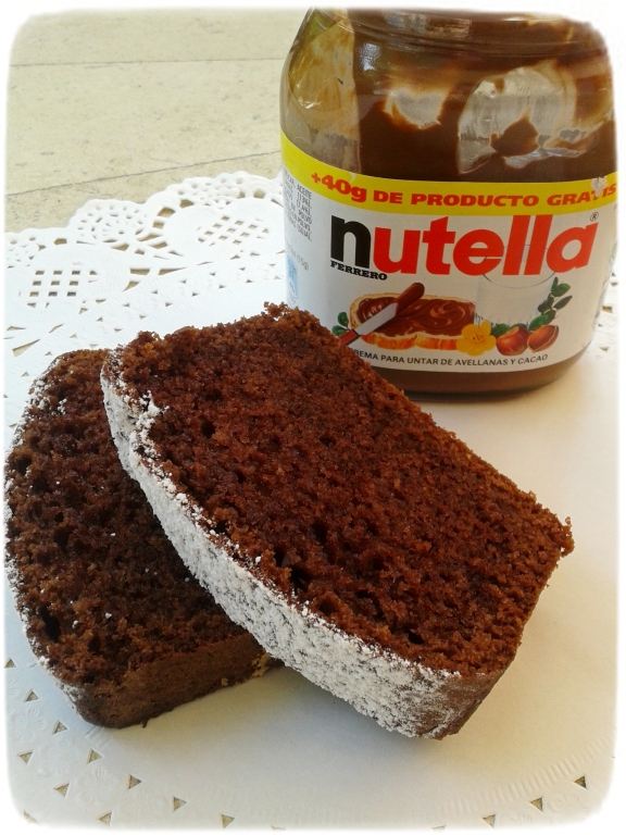 Plumcake de nutella y avellanas