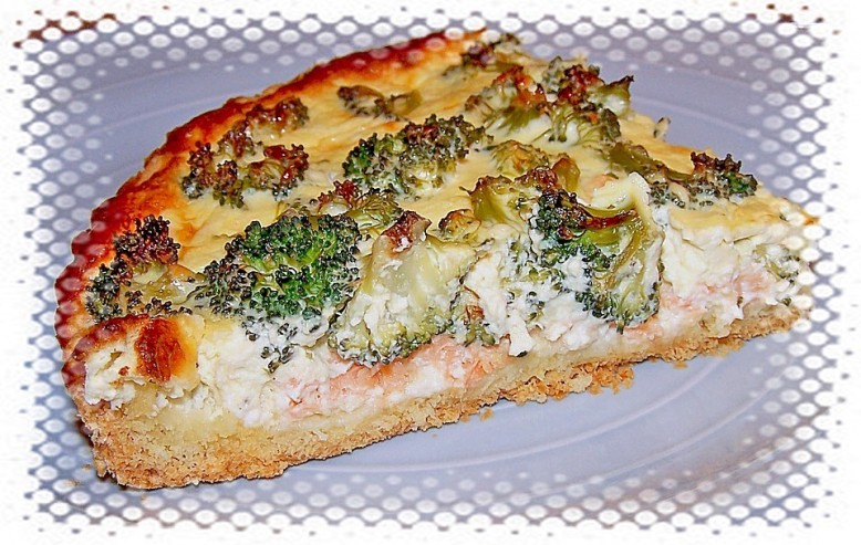 Quiche de brócoli y bacón