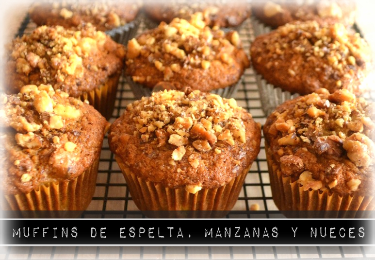 Muffins espelta manzanas nueces