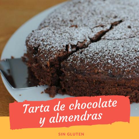 Tarta de chocolate y almendras sin gluten