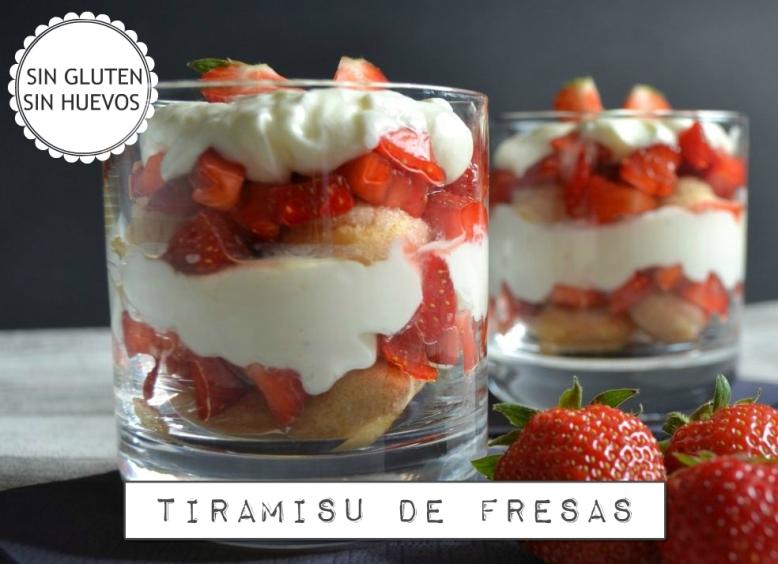 Tiramisu fresas sin gluten