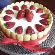 Tarta tiramisu de fresas