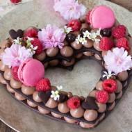 Cream tart corazón